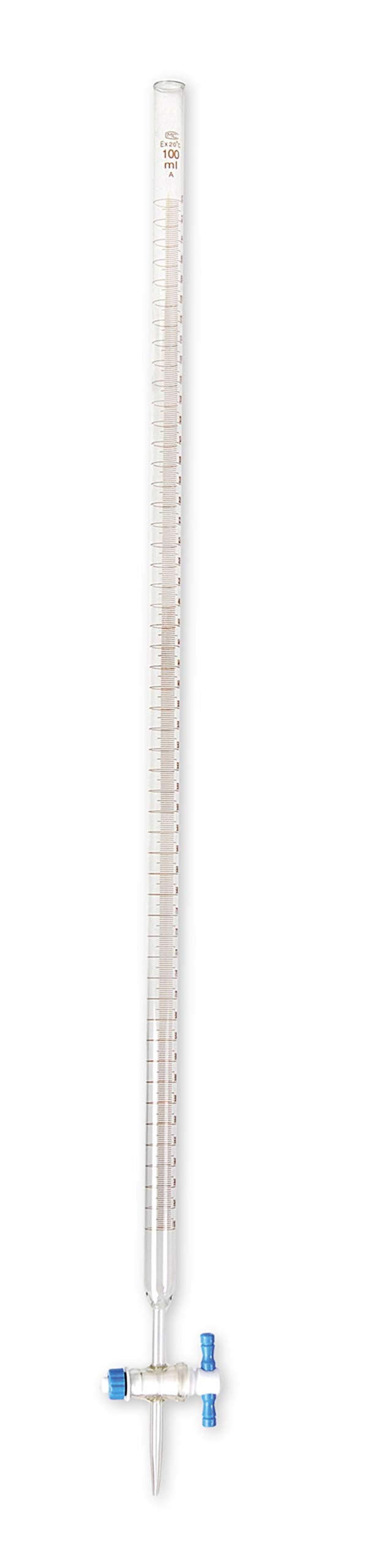 American Educational Borosilicate Glass 50mL Burette, with PTFE Stopcock by American Educational Products