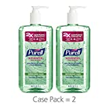 PURELL Advanced Hand Sanitizer Gel, Refreshing Aloe, 1 Liter Large Hand Sanitizer Table Top Pump Bottle (Pack of 2) - 3081-02-EC