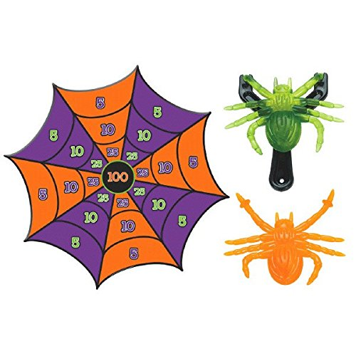Fun Gel Spider Slingshot Halloween Trick or Treat Party Game Activity, Pack of 6.