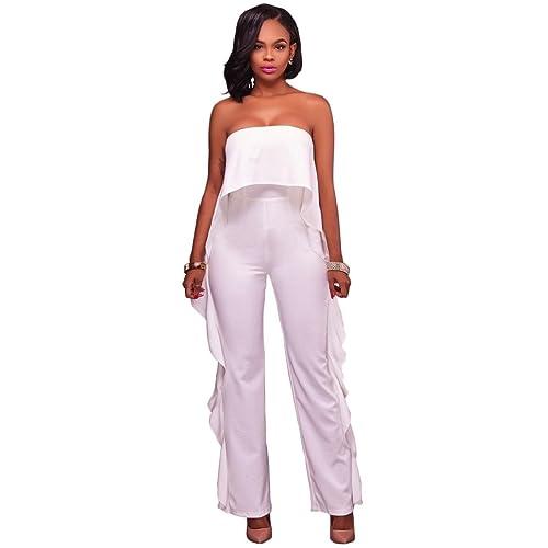 Pantalones de las mujeres atractivas de una mano hombro Pantalones pantalones de las mujeres