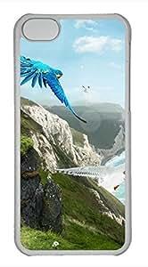 iPhone 5c case, Cute Birds Paradise iPhone 5c Cover, iPhone 5c Cases, Hard Clear iPhone 5c Covers