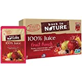 Back to Nature Non-GMO 100% Juice, Fruit Punch, 6 Ounce, 8 Count (Pack of 5)