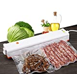 weed vacuum - Portable Vacuum Sealer Machine for Food Preservation and Storage with Starter Kit of 15 Pcs Sealer Saver Bags,Orange