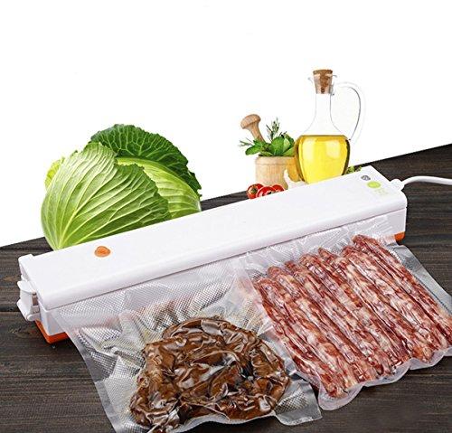 Fruit Storage Jar (Portable Vacuum Sealer Machine for Food Preservation and Storage with Starter Kit of 15 Pcs Sealer Saver Bags,Orange)