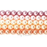 PINK COLORS MIX Swarovski 5810 Crystal Round 8mm Pearls Beads 25 pcs *FREE Shipping from Mychobos (Crystal-Wholesale)*