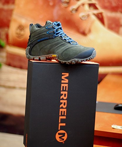 II Waterproof Chameleon J09377 Beluga Grün Merrell Mid Leather wP5FpWqE
