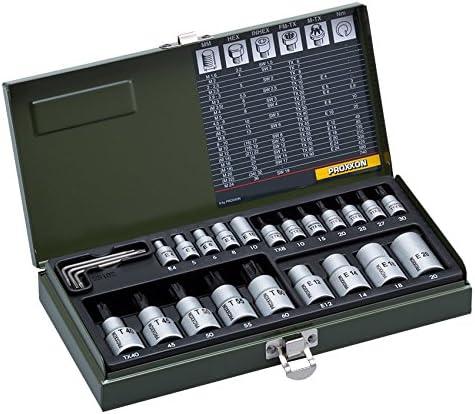 PROXXON(プロクソン) トルクスソケットセット No.82102 差込角:6.3mm/12.7mm 24点 1セット