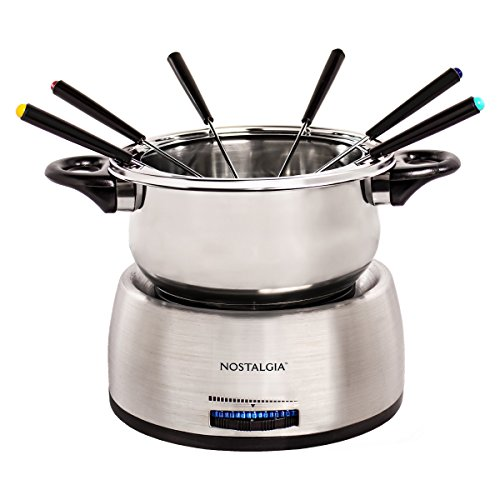 Nostalgia FPS200 6-Cup Stainless Steel Electric Fondue Pot by Nostalgia (Image #1)