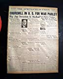 WINSTON CHURCHILL Arrives in Wash. D.C. & Visits