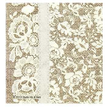 Amazon.com: Burlap & Lace Paper Plates (Napkins Square): Health ...
