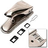 Incutex Dual SIM Kartenschneider Cutter Stanze für Handy, Smartphone und Tablet, silber