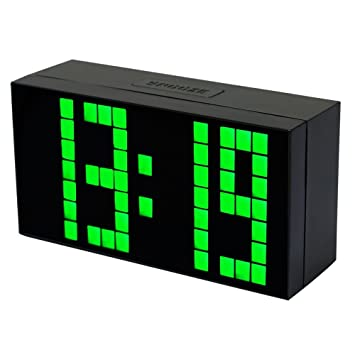 LambTown - Reloj Despertador Digital de 4 dígitos, 7 píxeles: Amazon.es: Hogar