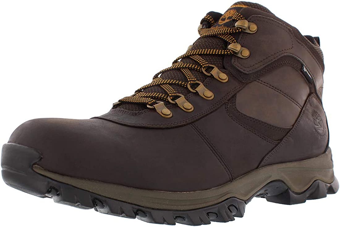 Men s Mt. Maddsen Mid Waterproof Hiking Boots – 13 – DARK BROWN