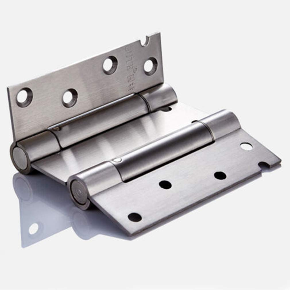 ZNMUCgs Charni/ère /à Ressort Double Ouvert en Acier Inoxydable Charni/ère /à Ouverture Automatique et Ouverture Externe,3 Pouces,9.2 2cm 6.6