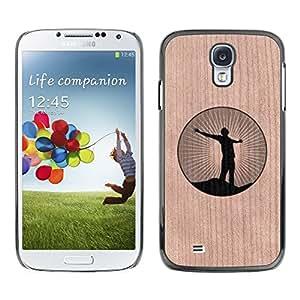 - / Freedom Yoga Zen Calm Logo - - Funda Delgada Cubierta Case Cover de Madera / FOR Samsung Galaxy S4 i9500 i9508 i959 / Jordan Colourful Shop/