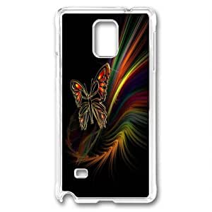 Custom Samsung Galaxy note 4 Case,Fantasy Butterfly aesthetic as TPU Transparent Samsung Galaxy note 4 Cases