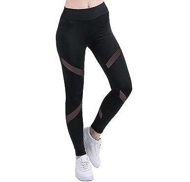 9c1ffad54cf074 Women's Mesh Fashion Leggings High Waist Yoga Pants Gym Workout Fitness  Ankle-length Legging