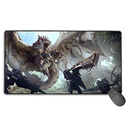 Monster Hunter Word Large Gaming Mouse Pad Extended Mat Non-Slip Rubber Desk Pad Computer Keyboard Mat Good