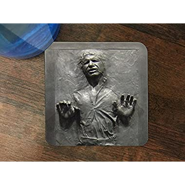 Cool Carbonite Print Silicone Drink Beverage Coaster 4 Pack