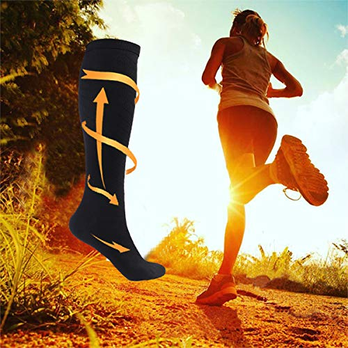 ODIJOO Compression Socks 20-30 mmHg for Women & Men(3 Pairs)-Best For Running,Athletic,Medical,Pregnancy and Travel