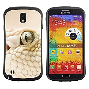 LASTONE PHONE CASE / Suave Silicona Caso Carcasa de Caucho Funda para Samsung Note 3 N9000 N9002 N9005 / White Snake Macro