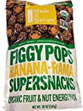 Figgy Pops Banana-Rama Super SNacks- Organic Fruit & Nut Energy Snack
