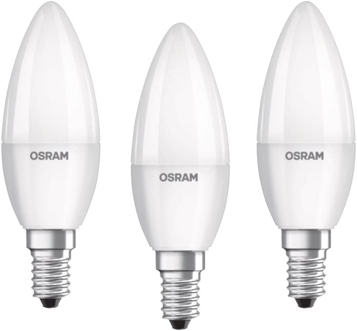 OSRAM LED STAR CLASSIC B 25 Filament matt Cool White E14 Kerze