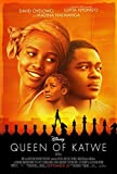 QUEEN OF KATWE Original Movie Poster 27x40 - Dbl-Sided Final - David Oyelowo - Lupita Nyong'o - Ntare Guma - Mbaho Mwine