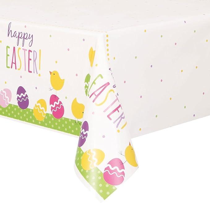 Nappe en plastique Happy Easter 137 x 213 cm