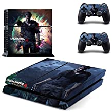 CAN PS4 Console Designer Protective Vinyl Skin Decal Cover for Sony PlayStation 4 & Remote DualShock 4 Wireless Controller Stickers - Uncharted 4