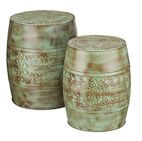 Regal Art & Gift 20187 Garden Stool (Set of 2), Patina Flower by Regal Art & Gift
