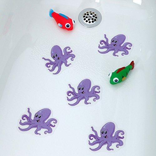[Octupus] Bathtub Stickers Safety Decals Treads Non Slip Anti-skid Shower Applique by Nonslip Appliques