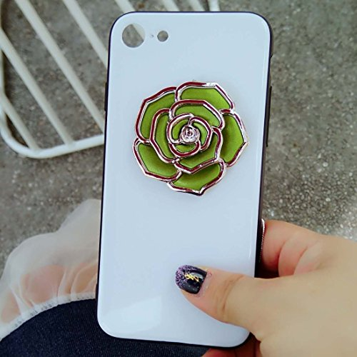 Hülle für iPhone 7 ,Schutzhülle Für iPhone 7 Rose Pattern Shockproof schützende rückseitige Abdeckungs-Fall ,cover für apple iPhone 7,case for iphone 7 ( Color : Green )