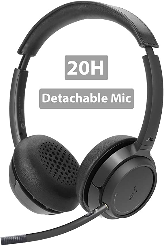 Avantree Wireless Headset with Microphone for Computer PC