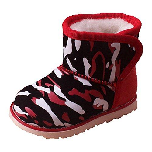 Ohmais Kinder Baby Jungen Baby Mädchen Baby Kleinkind Schuh weich rot camouflage