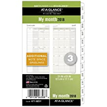 """AT-A-GLANCE Day Runner Monthly Planner Refill, Ruled Blocks, January 2018 - December 2018, Loose Leaf, Size 3, 3-3/4"""" x 6-3/4"""" (471-685Y)"""