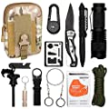 Emergency Survival Kit 12 in 1- Multi Professional Tactical Tool for Wilderness/Trip/Cars/Hiking/Camping gear from DLYFAMILY
