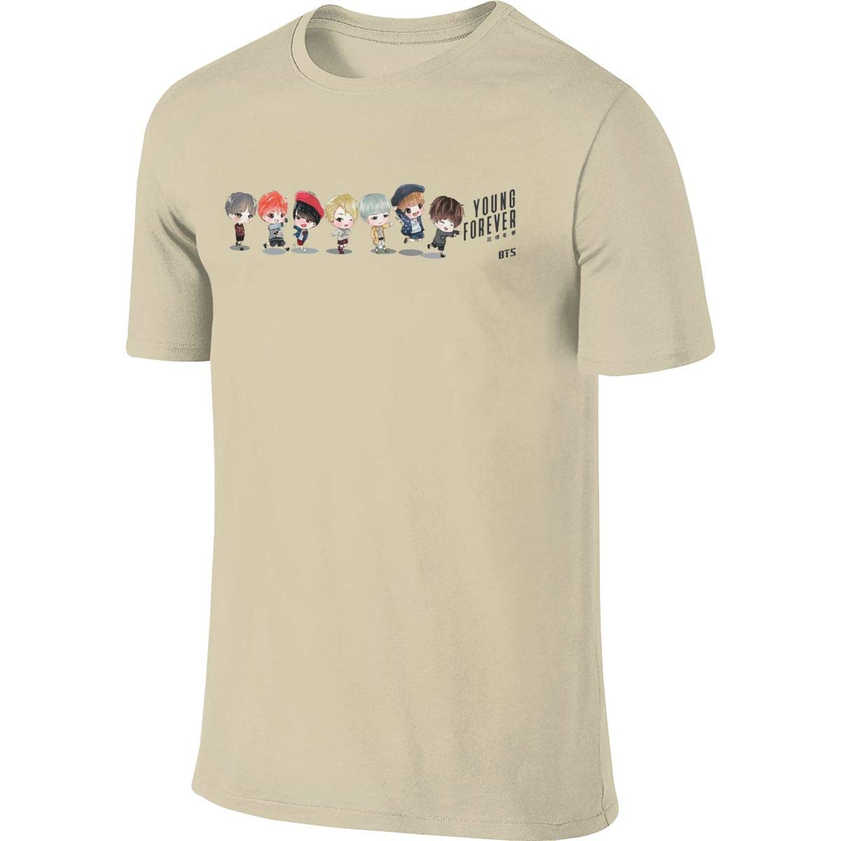 JUDSON Mens Design Cool Tees Cartoon BTS Young Forever Tshirt