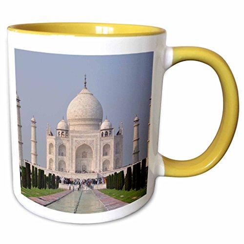 Mahal Tee (3dRose Cities Of The World - Taj Mahal In Delhi, India - 11oz Two-Tone Yellow Mug (mug_268675_8))