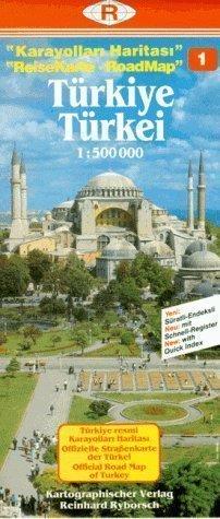 Turkey Road Map: Istanbul and Marmara Region No. 1: Edirne, Istanbul, Kocaeli, Sakarya, Bursa, Canakkale published by Reinhard Ryborsch (1992)