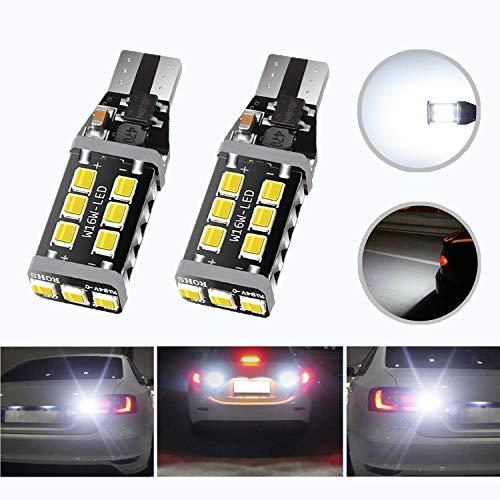HOCOLO Extremely Bright Led Bulb 2200 Lumens Error Free 360-Degree Shine 921 912 T10 T15 906 904 902 3035 Chips for Backup Reverse Lights, Xenon White, No Hyper Flash