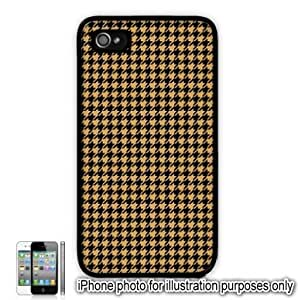Yellow Houndstooth Check Pattern Apple iPhone 4 4S Case Cover Skin Black