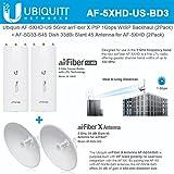 Ubiquiti AF-5XHD US (2 UNITS) 5GHz airFiber X PtP 1Gbps Radio WISP Backhaul Performance + AF-5G34-S45 (2 UNITS) Dish 34dBi Slant 45 Antenna for airFiber X AF-5X