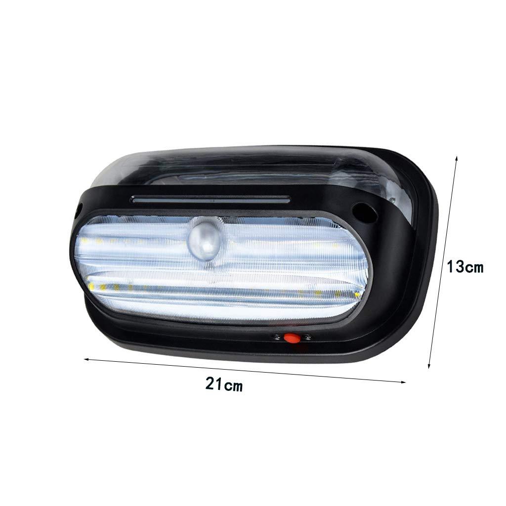 WKZ Luz de Pared Solar, luz de Seguridad LED 5800K IP66 Sensor de ...