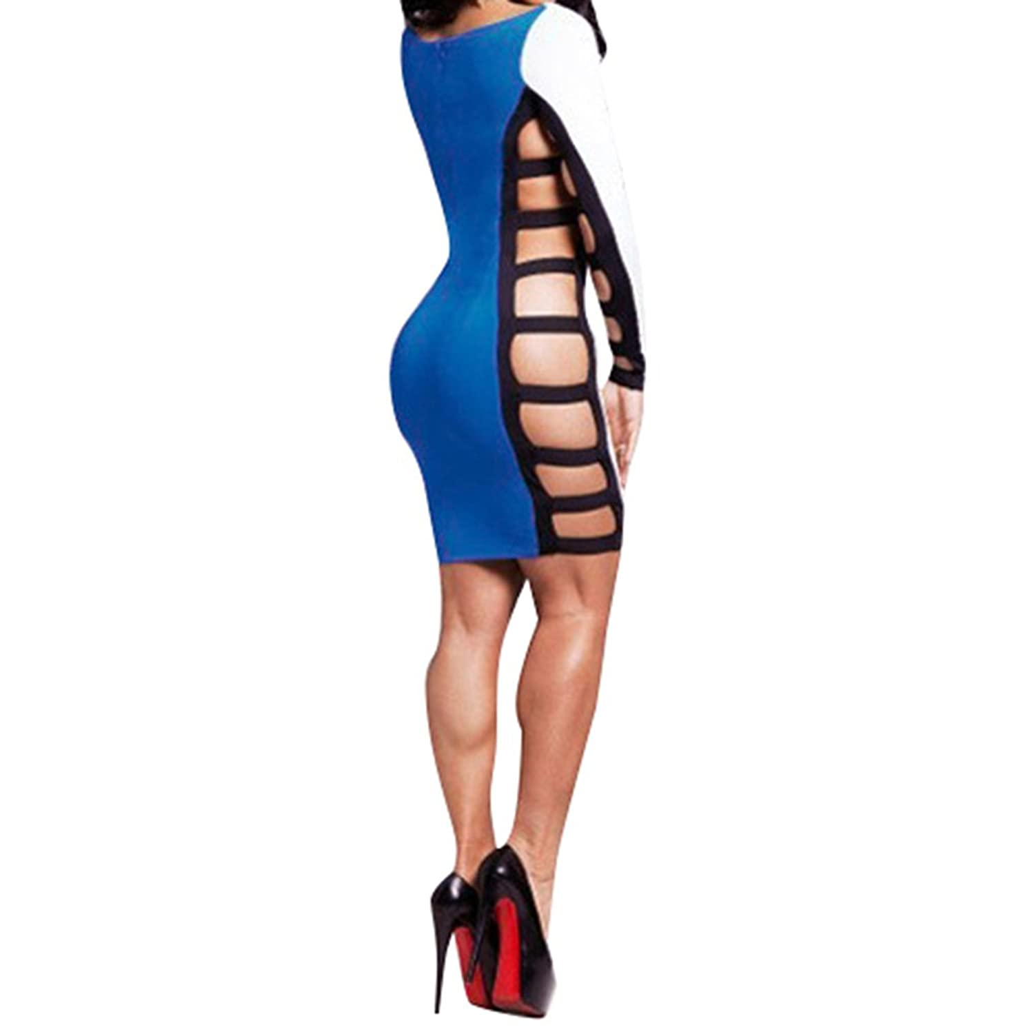 iecool Women's Side Hollow Sexy Nightclub Dress