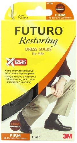 Futuro Restoring Dress Socks Brown