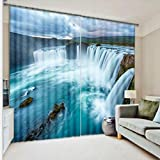 BXYR 2018 New 3D Curtains Bedroom Digita Window Screening Living Room 3D Drapes Shading Cloth For Bedroom Home Decor Insulated Window Drapes Washable Shade Curtains (Size : 2.03x2.41m)