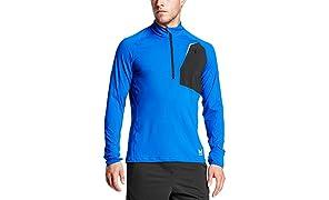 Mission Men's VaporActive Stamina Lightweight 1/4 Zip Long Sleeve Pullover
