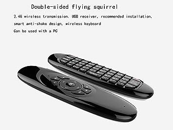 GUOJIUXIAO Mini Teclado con Mouse y Control Remoto Multimedia para Android TV Box, Cody TV Box, Google TV, Smart TV y más: Amazon.es: Electrónica