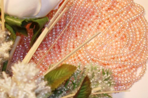 Fresh Water Potato Pearls 3-4mm Baby Pink 16